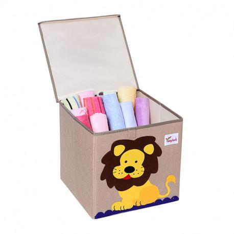 Складной ящик для игрушек с крышкой. Лев.