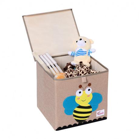 Складной ящик для игрушек с крышкой. Пчелка.
