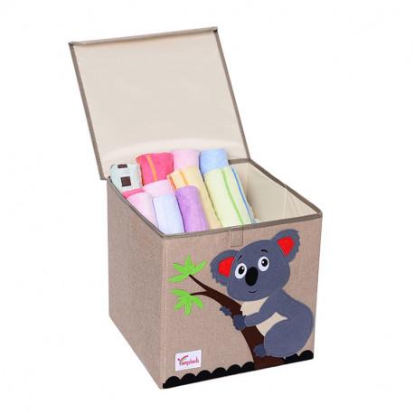 Складной ящик для игрушек с крышкой. Коала.
