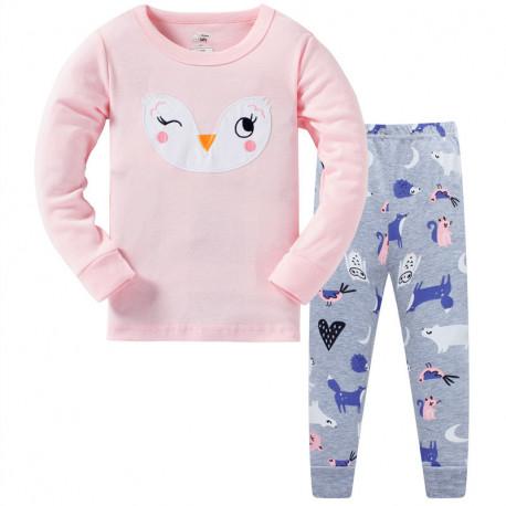 Пижама для девочки, розовая. Улыбка.