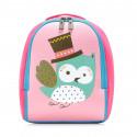 Детский рюкзак, розовый. Сова.