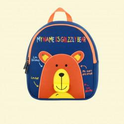 Детский рюкзак, синий. Мишка. (S)