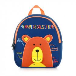 Детский рюкзак, синий. Мишка.