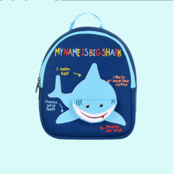 Детский рюкзак, синий. Акула.