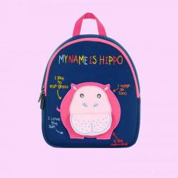 Детский рюкзак, синий. Бегемот. (S)