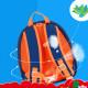 Детский рюкзак, синий. Розовый трицератопс. (S)