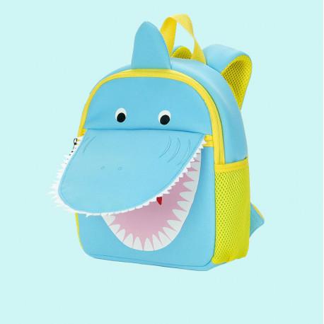 Детский рюкзак, голубой. Акула.