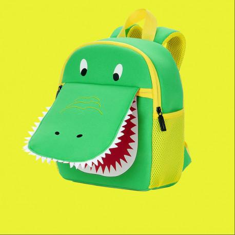 Детский рюкзак, зеленый. Крокодил.