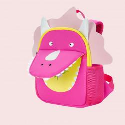 Детский рюкзак, розовый. Трицератопс.