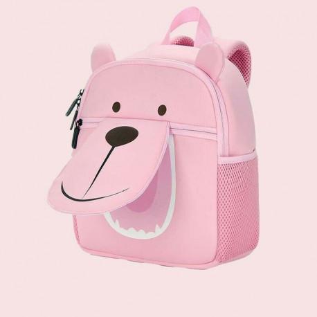 Детский рюкзак, розовый. Мишка. (S)
