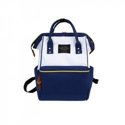 Сумка-рюкзак , бело-синий.