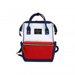 Сумка-рюкзак , бело-красный.