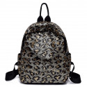 Рюкзак, черный. Золотой леопард.