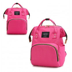 Сумка-рюкзак, мама-сумка. Малиновый.