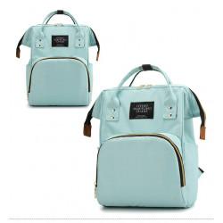 Сумка-рюкзак, мама-сумка. Ментол.