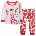 Пижама для девочки, розовая. Жирафик.