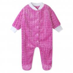 Комбинезон детский для девочки, розовый.