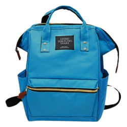 Сумка-рюкзак, мама-сумка. Бирюзовый.