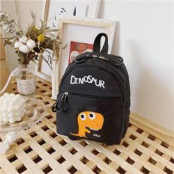 Детский рюкзак, черный. Дино.