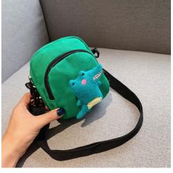 Сумка детская, зеленая. Динозаврик.