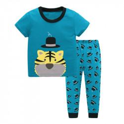 Пижама для мальчика, бирюза. Тигр.