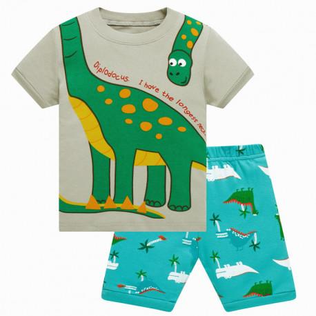 Пижама для мальчика, серая. Длинношеей.