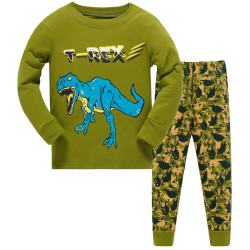 Пижама для мальчика, зеленая. T-Rex