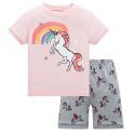 Пижама для девочки, розовая. Радуга.