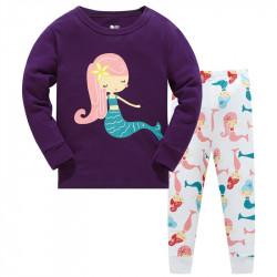 Пижама для девочки, фиолетовая. Русалочка.