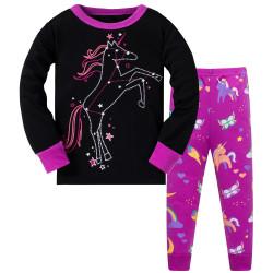 Пижама для девочки, фиолетовая. Созвездие Единорога.