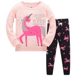 Пижама для девочки, персик. Единорога.