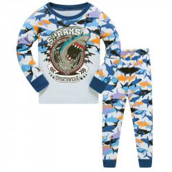 Пижама для мальчика, белая. Акула.