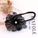 Заколка для волос. Черный цветок.