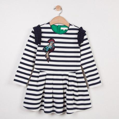 Платье для девочки, синие. Колибри.