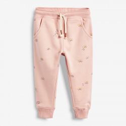Утепленные штаны для девочки, розовые. Радуга.