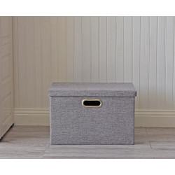 Складной ящик для хранения вещей. Серый.