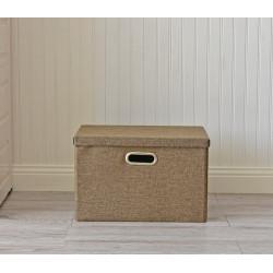 Складной ящик для хранения вещей. Коричневый.