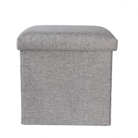 Складной ящик-пуф для хранения вещей. Серый.
