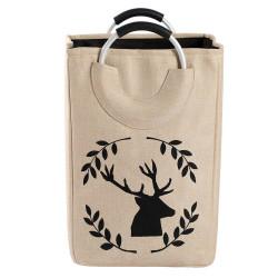 Корзина-сумка для игрушек, бежевая. Олень.