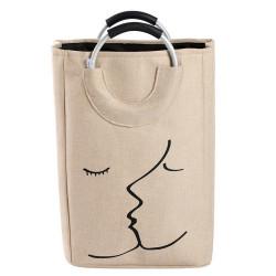 Корзина-сумка для игрушек, бежевая. Поцелуй.
