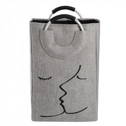 Корзина-сумка для игрушек, серая. Поцелуй.