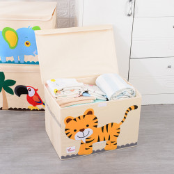 Складной ящик для игрушек с крышкой. Тигренок.