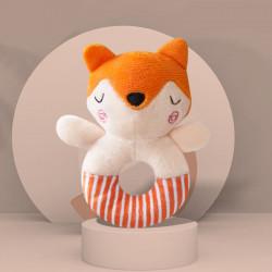 Мягкая игрушка-погремушка Лисичка