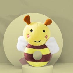 Мягкая игрушка-погремушка Пчелка