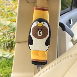 Накладка мягкая на ремень безопасности. Пингвин.