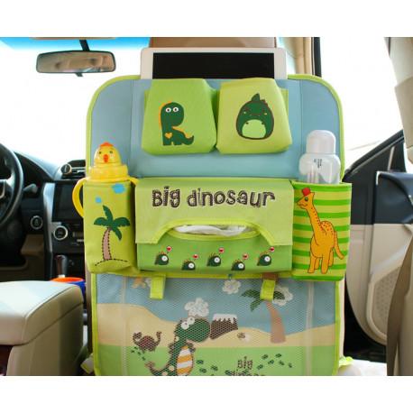 Органайзер для автомобиля, детский, зеленый. IPAD Большой динозавр.