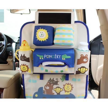 Органайзер для автомобиля, детский, синий. IPAD Машина с зверями.