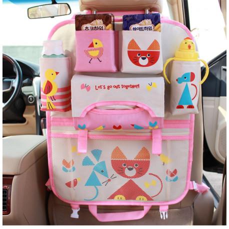 Органайзер для автомобиля, розовый. Котик.