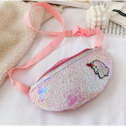 Сумка детская, поясная сумка, розовая. Единорог.