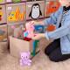 Складной ящик для игрушек с крышкой. Панда.